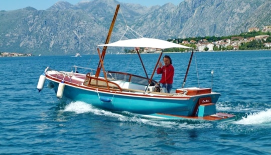 Covered 5 Person Boat Rental In Baošići, Montenegro In Boka Bay
