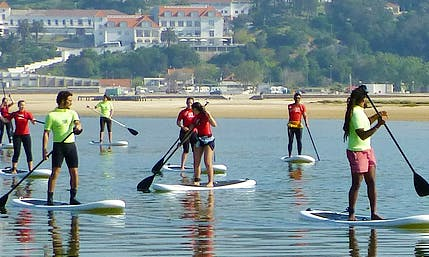 Stand Up Paddleboarding Ride on Óbidos Lagoon in Portugal