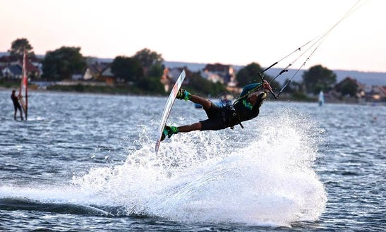 Kiteboarding In Rewa, Poland