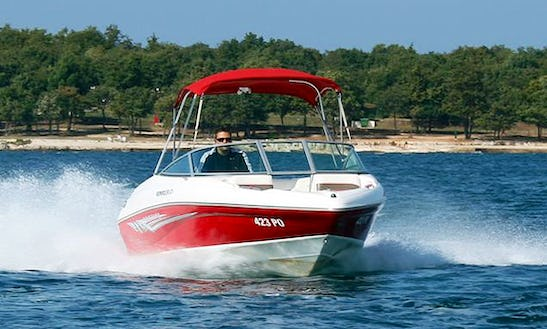 Rinker 192 Captiva Red Power Boat Rental In Funtana