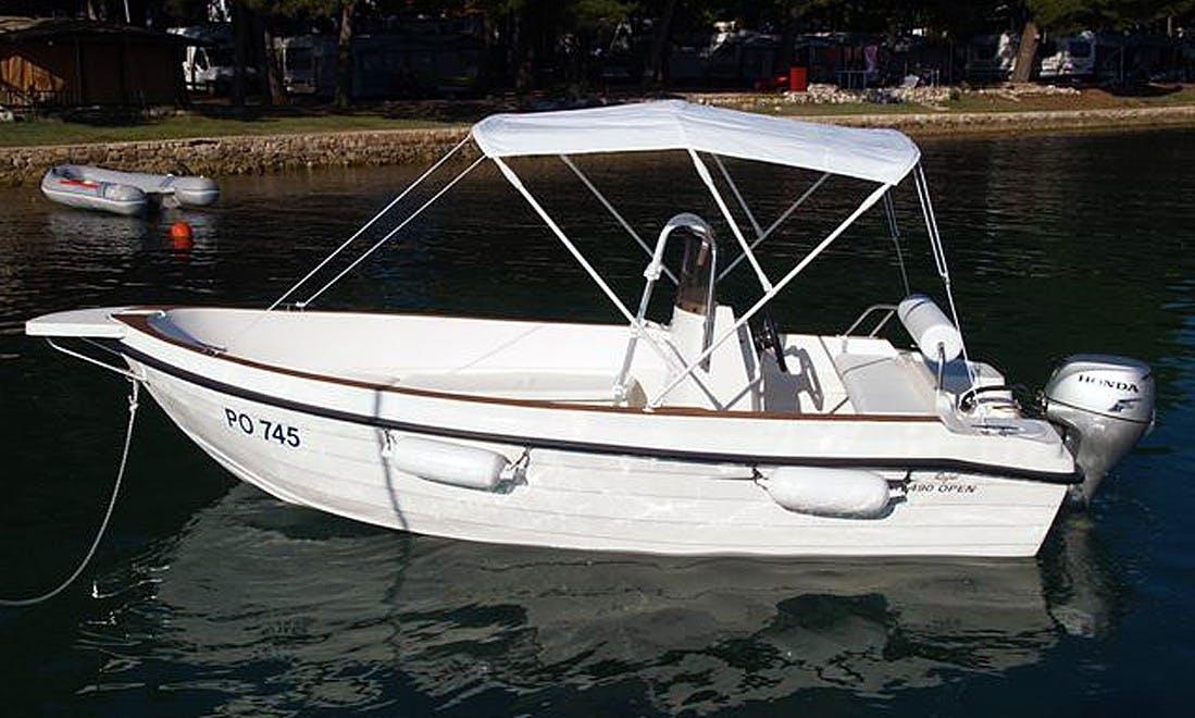 Reful 490 Open Power Boat rental in Funtana