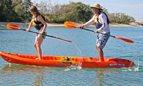 Smooth Water And Sunset Guided Tour On Double Kayaks In Noosaville, Queensland