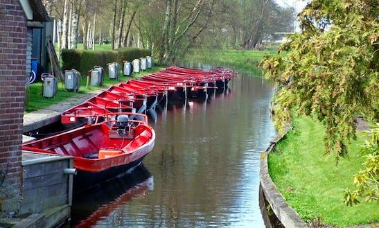 Electric Whisper Boat Rental In Giethoorn, Netherlands