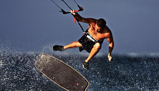 Kiteboarding In Nin, Croatia