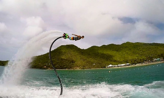 Flyboarding In Collectivity Of Saint Martin