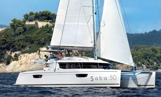 Fountaine Pajot Saba 50' Cruising Catamaran Charters In Marigot, Saint Martin