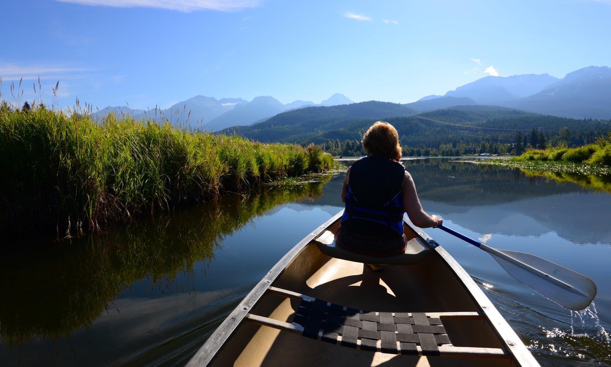 Canoe in Whistler