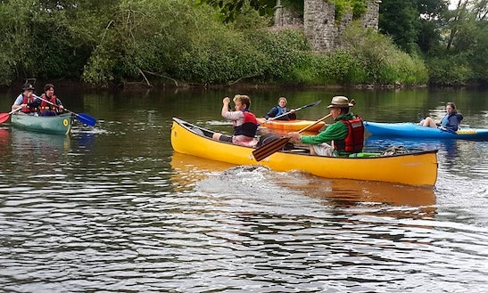 5 Miles To 23 Miles Canoe Trips In Whitney On Wye, United Kingdom