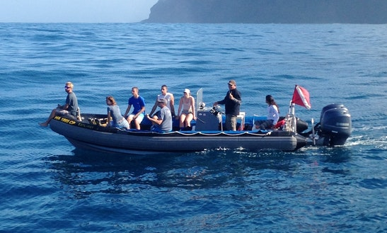 27′ Rhib Diving Trips In Waimea, Kauai, Hawaii