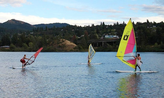 Windsurfing In Hood River, Oregon