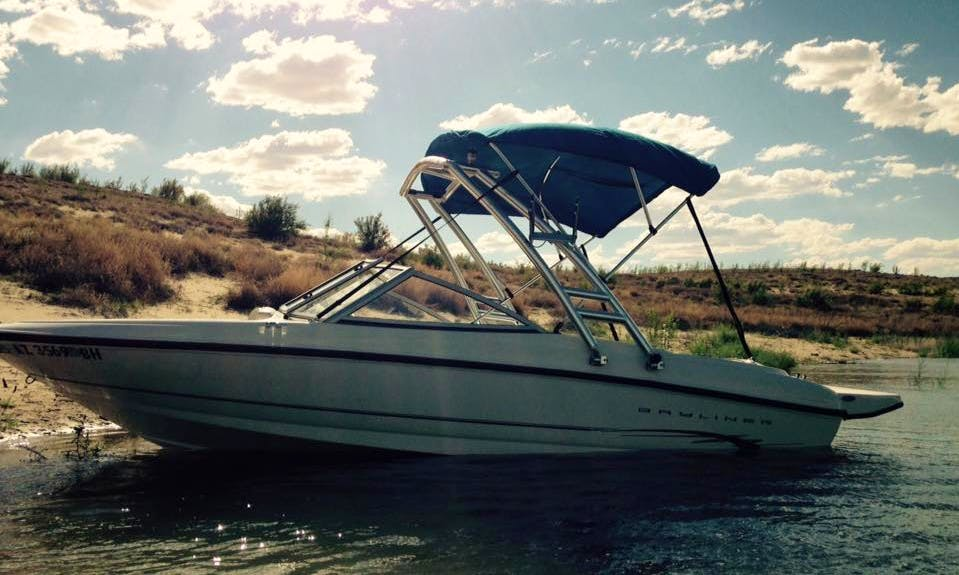 Enjoy Lake Powell in this 17.5' Bayliner Bowrider