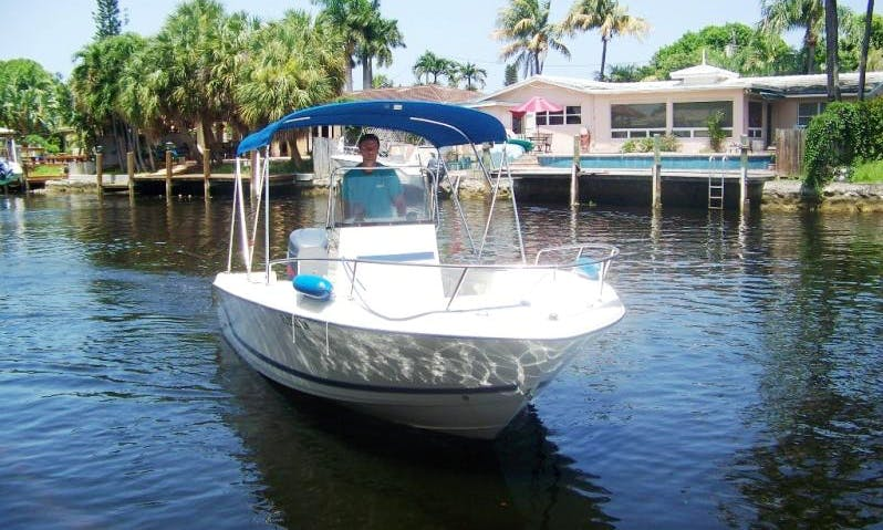 Rent 19' Cobia Center Console In San Rafael, Dominican Republic