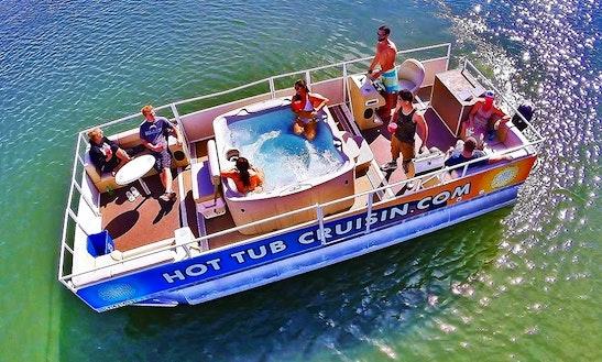 Enjoy Hot Tub Cruising Boat For Rent In San Diego