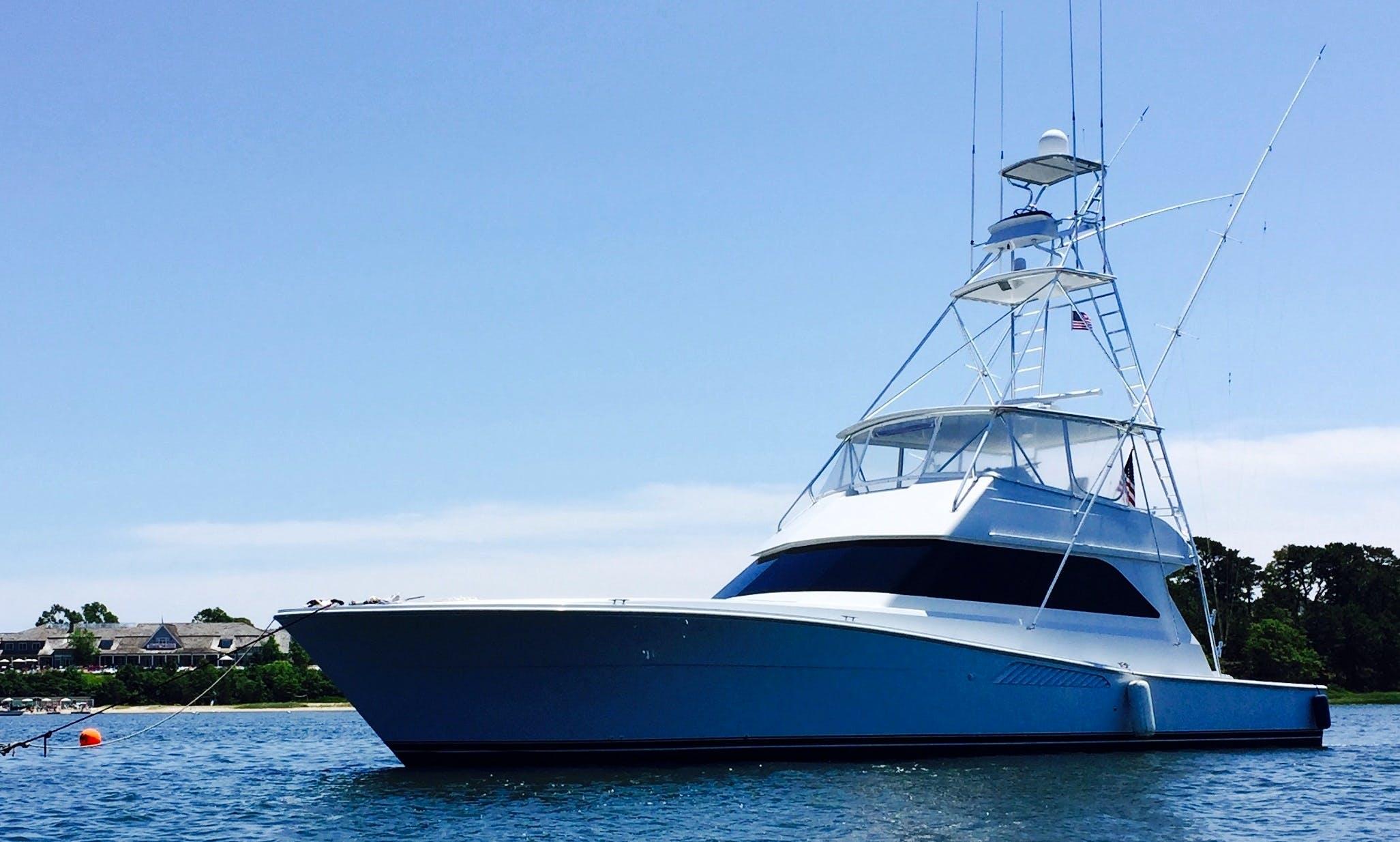 """Charter 60ft """"Double Diamond"""" Power Mega Yacht In Barnstable, Massachusetts"""