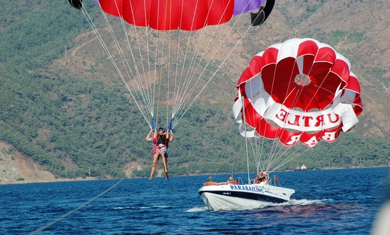 Parasailing In Mugla, Turkey