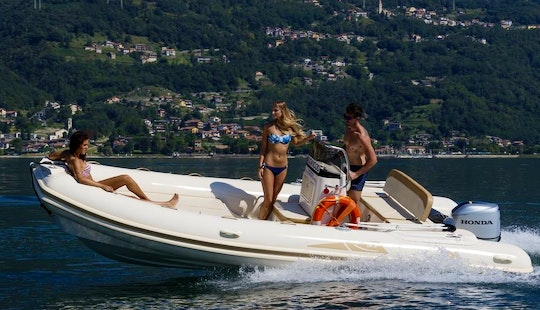 18' Inflatable Bsc Rib Rental In Domaso, Italy