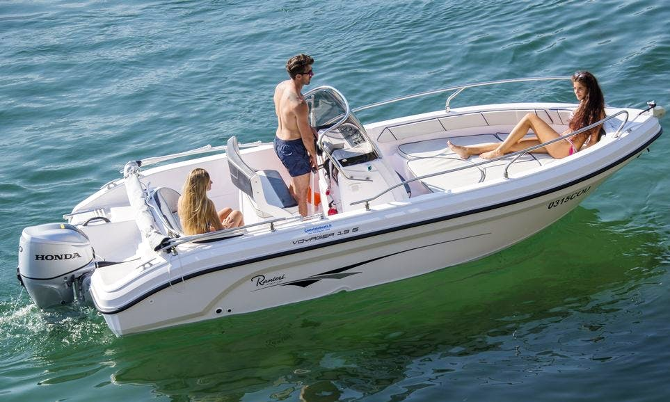 Rent 19' Ranieri Open Line Voyager Center Console In Domaso, Italy
