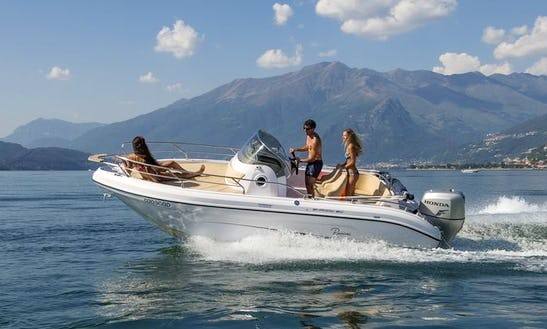 Rent 20' Ranieri Sundeck Shadow Center Console In Domaso, Italy