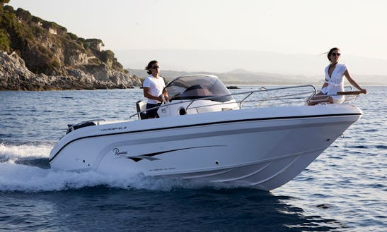 Rent 21' Ranieri Open Line Voyager Center Console In Domaso, Italy