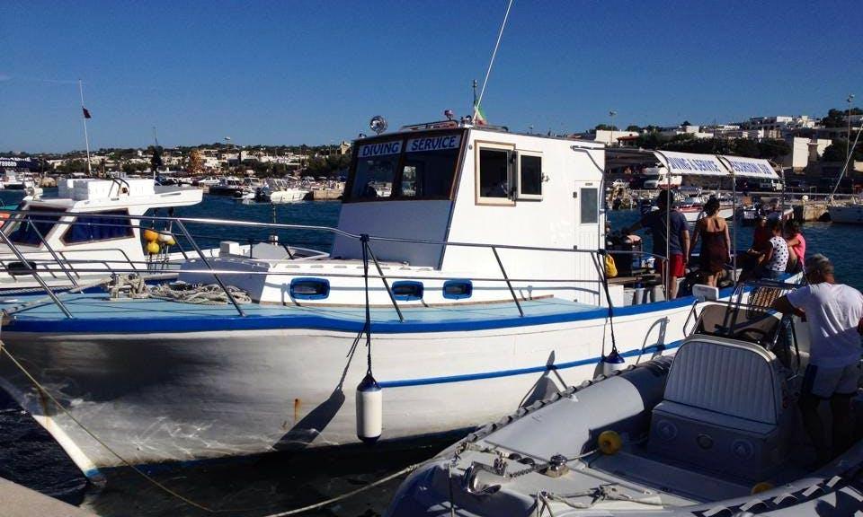 Boat Diving Trips in Morciano di Leuca with Marcello