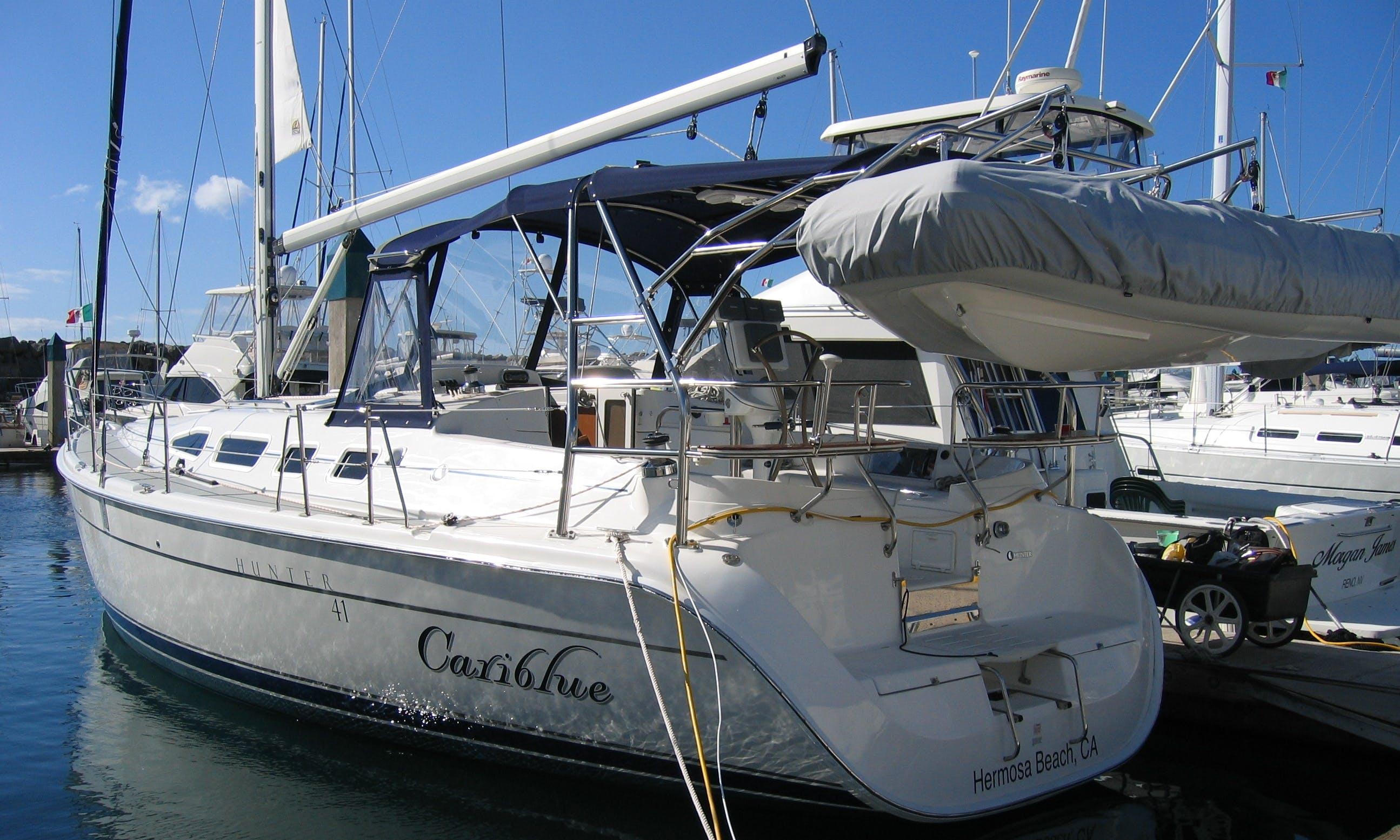 "Rent the ""Cariblue"" Hunter 41 Yacht in Marina Del Rey"