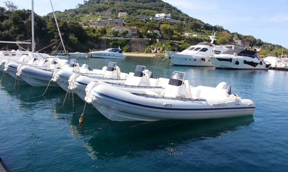 19' Predator 570 Rigid Inflatable Boat Rental In Campania, Italy