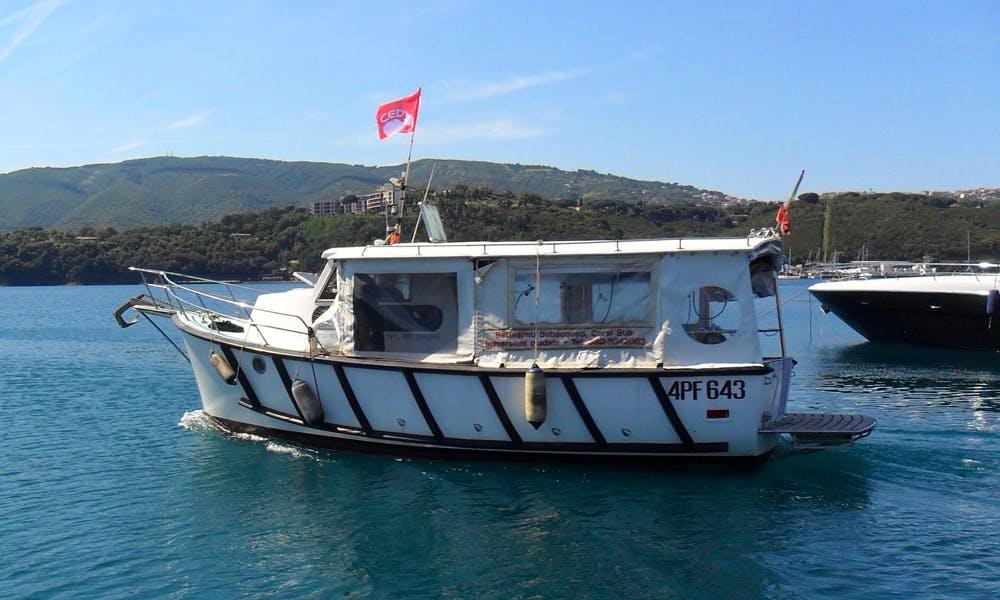 Scuba Diving Boat in Porto Azzurro
