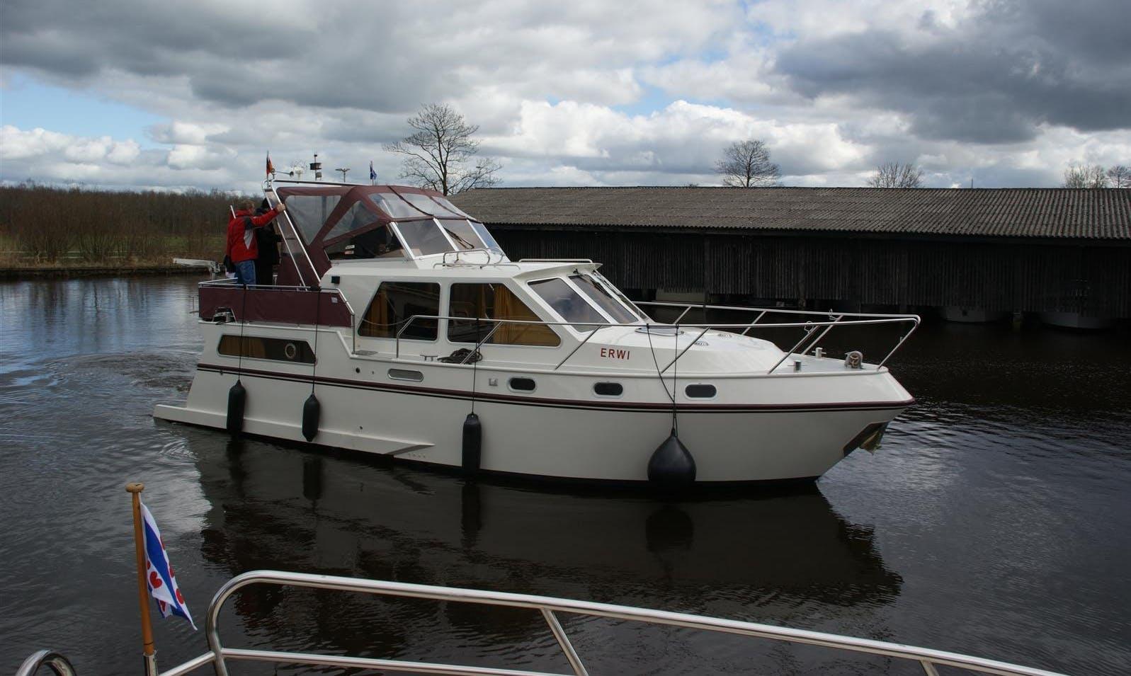 Enjoy Friesland, Netherlands by 34' Erwi Motor Yacht