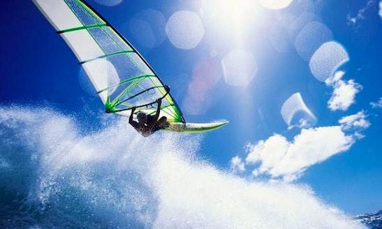 Windsurfing In Rio Vista, California