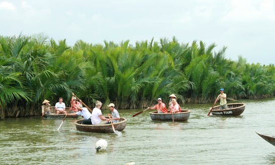 Coconut Basket Boats Tour In Hoi An, Vietnam