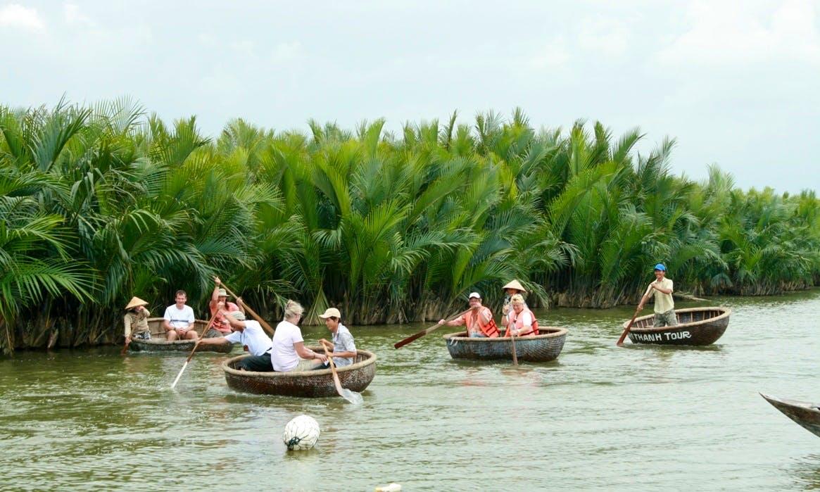 Coconut Basket Boats Tour in Hoi an, Vietnam