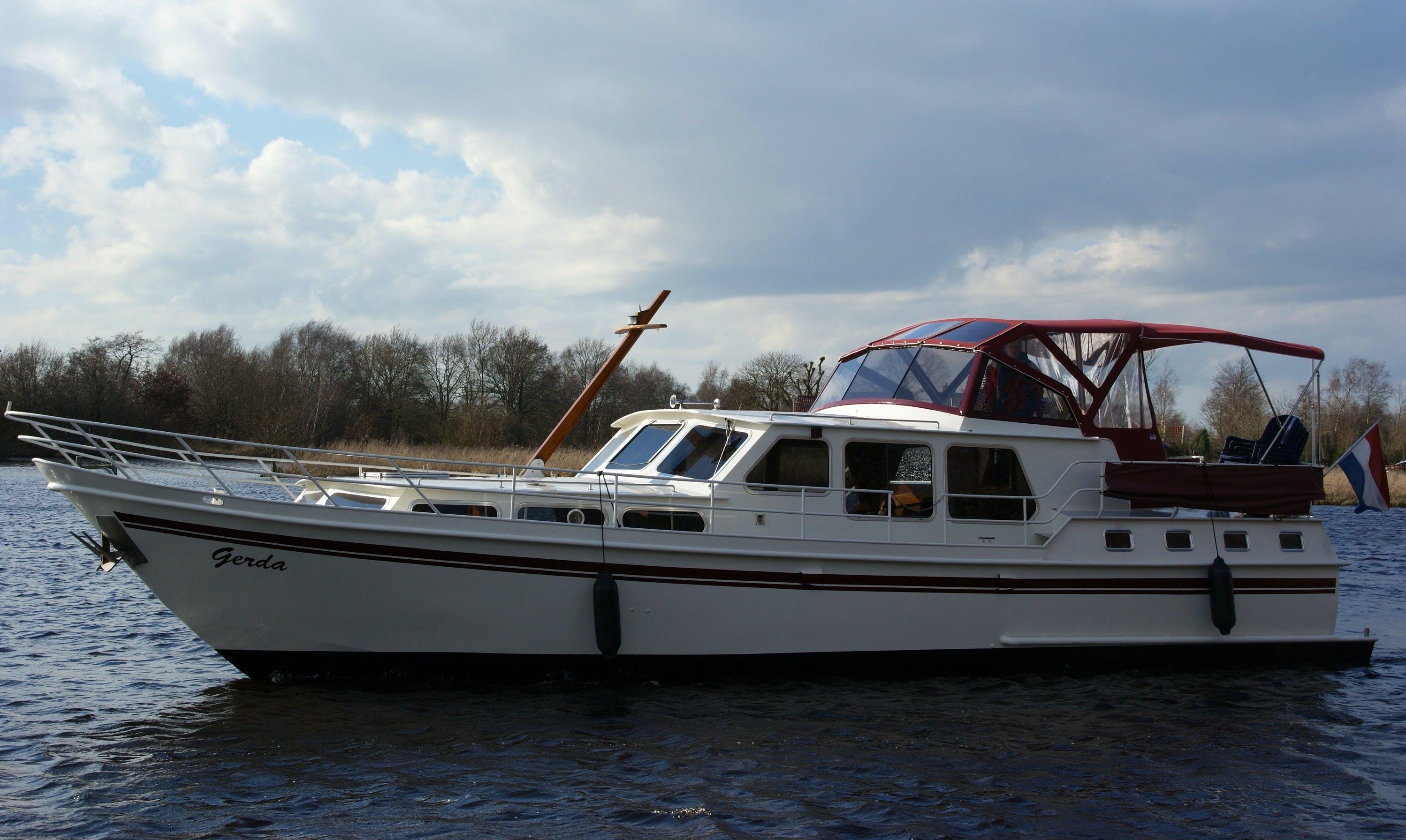 Explore Friesland, Netherlands on 49' Gerda Motor Yacht