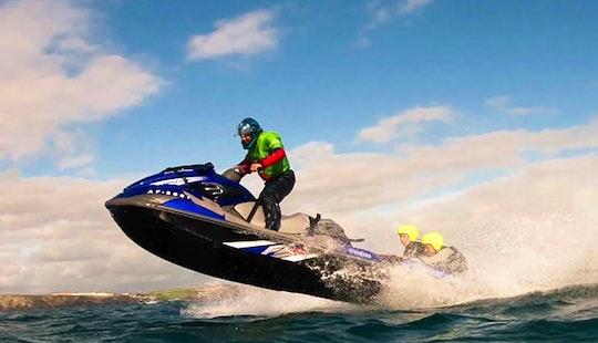 Jet Ski Coasteering In Newquay