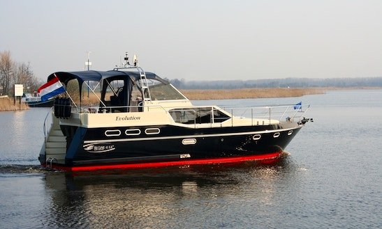 41' Reline 1260 Limited Ed. Motor Yacht Rental In Ijlst, Netherlands