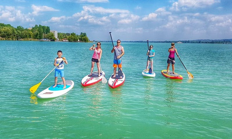 Stand Up Paddleboard Rental and Lessons in Tihany, Hungary