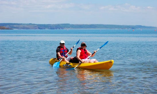 Double Kayak For Hire With Wet Suits And Life Jackets Provided In Tenby, Wales