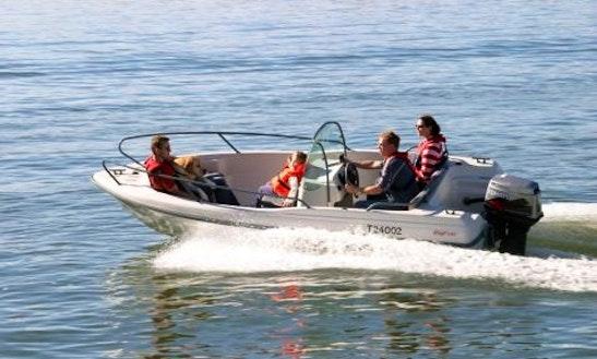 Hire A 14' Sport Motorboat In Tenby