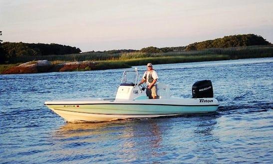 Enjoy Fishing On 22' Center Console In Newburyport, Massachusetts