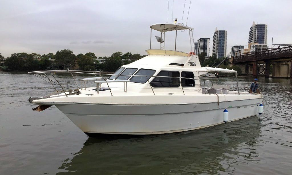 """Great Day Fishing and Cruising on 43 ft """"Sea Eagle"""" on Sydney Harbor"""
