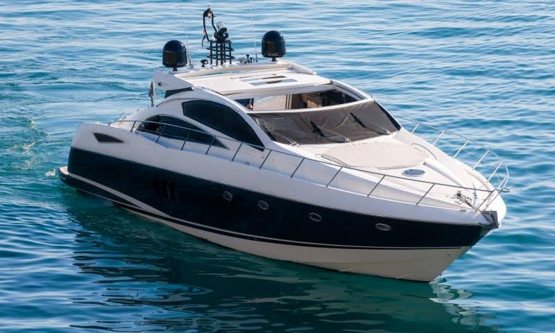 Captained Charter on Sunseeker Predator 72 Mega Yacht from Split, Croatia