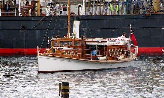 Charter 55' Canal Boat In Hobart, Tasmania