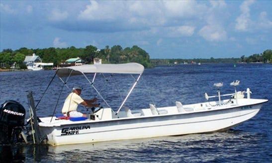 24' Carolina Skiff Fishing Boat In Homosassa, Florida With Captain Duane