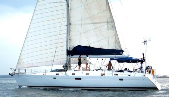 50ft Beneteau Oceanis Sailing Boat Charter In Cartagena, Bolivar