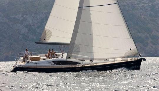 Beautiful Day Sail On A Yacht On The English Coast