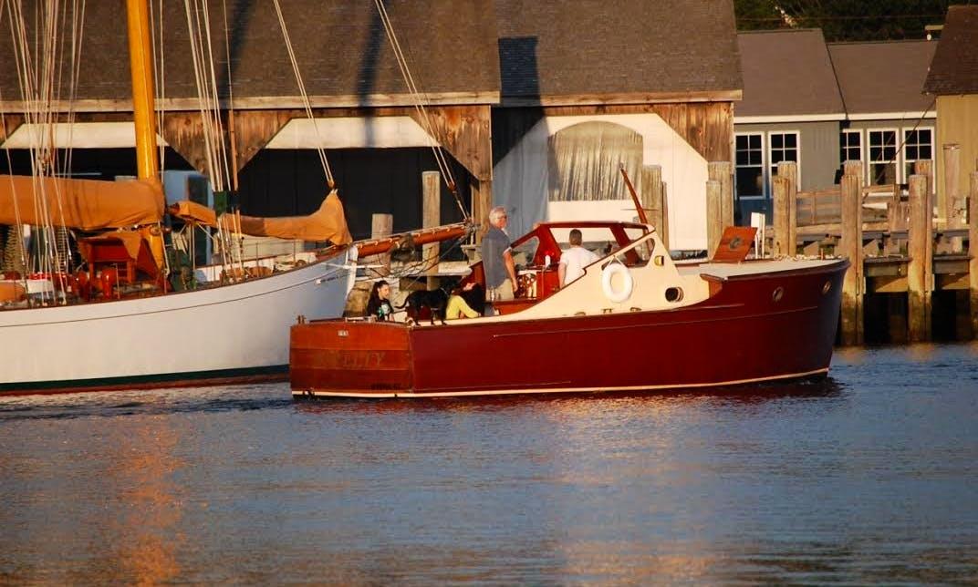Enjoy Stonington, Connecticut On Classic Wooden Picnic Boat