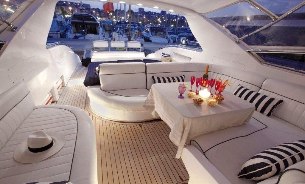 75 ft Mangusta MY sleep aboard rental in South France