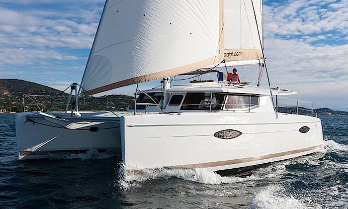 Cruising Charter on Helia 44 Catamaran in Cogolin