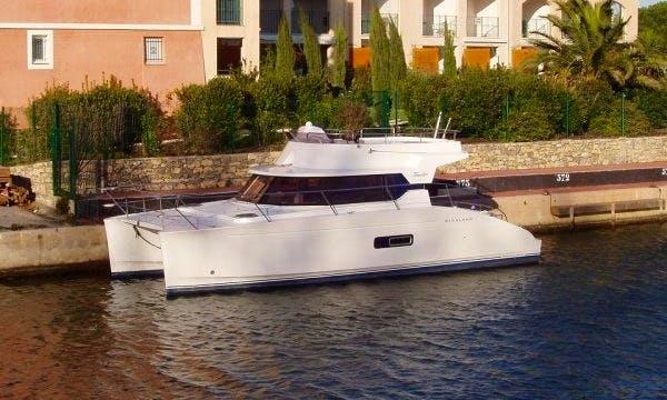 Cruise in Comfort on Highland 35 Power Catamaran in Cogolin