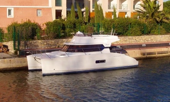 Cruise In Comfort On Highland 35 Power Catamaran In Cogolin