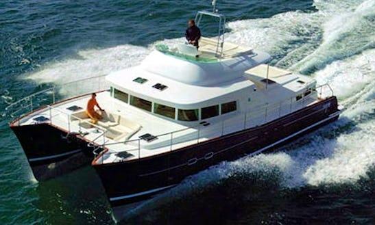 Sailing Charter On Lagoon 43 Catamaran In Cogolin